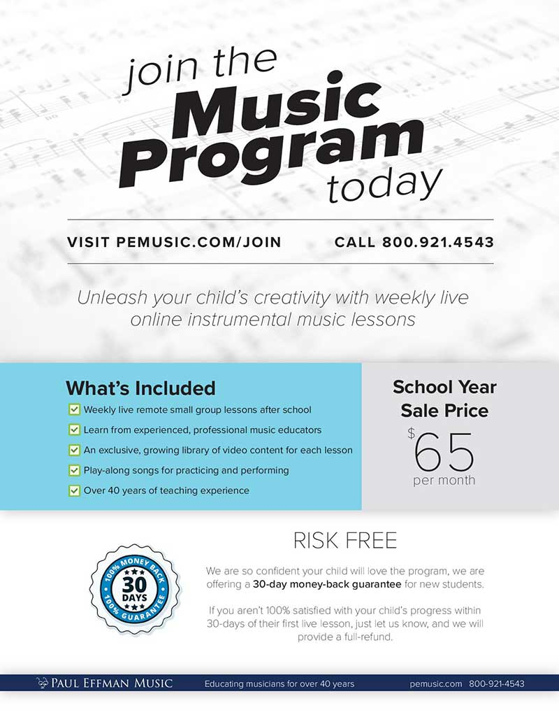 Join the Music Program Today
