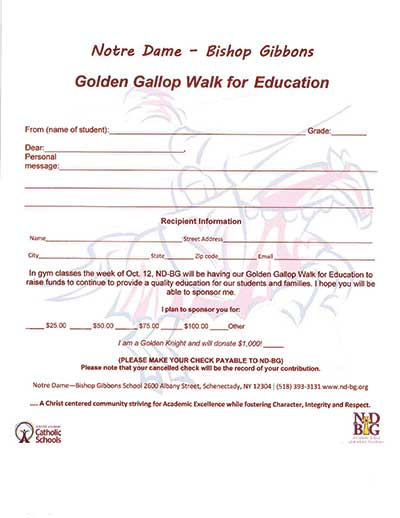 Golden Gallop Walk for Education