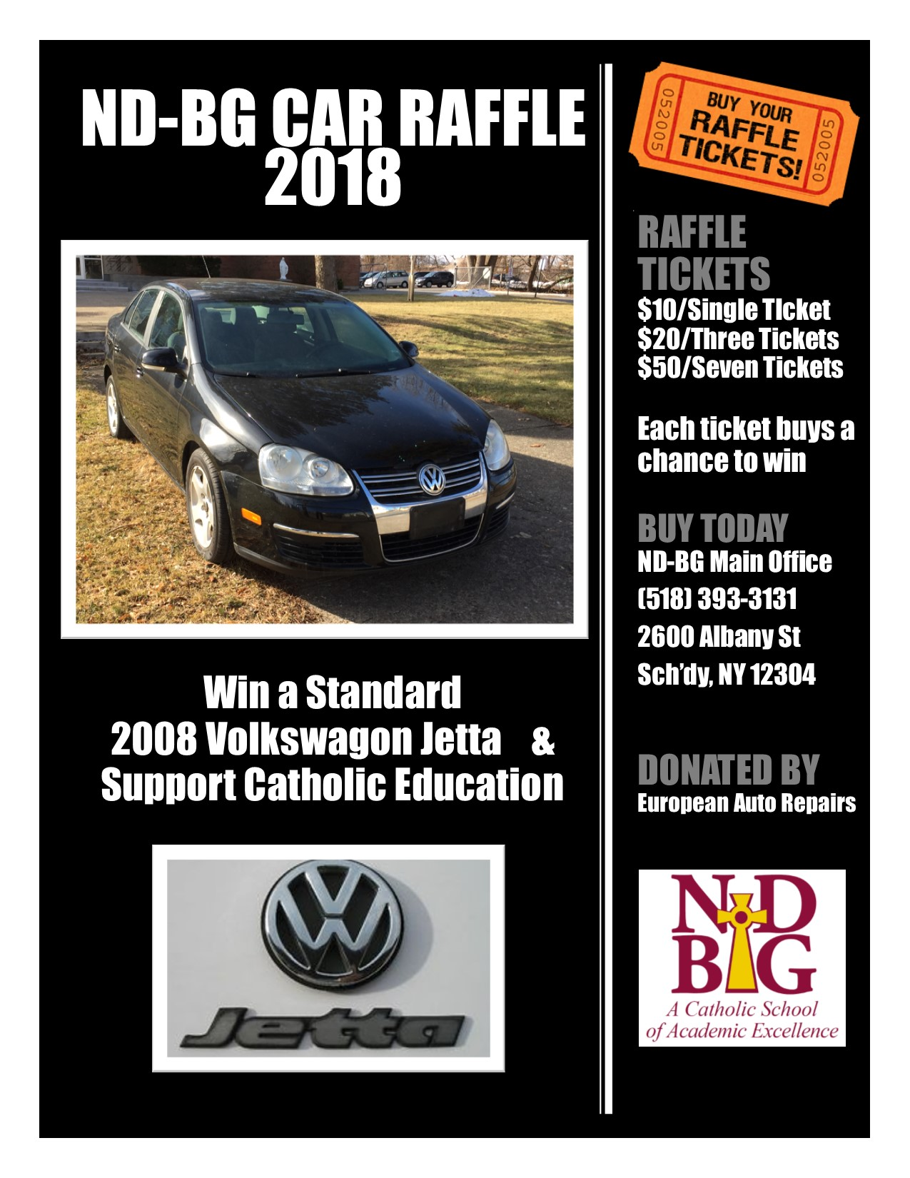 Car Raffle 2018 Details - Buy Your Tickets Today