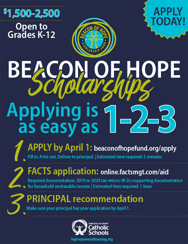 Beacon of Hope Scholarship Applications Now Being Accepted
