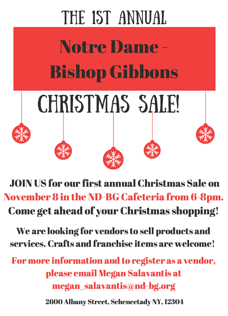 Christmas Sale: 11/8/17, 6-8pm