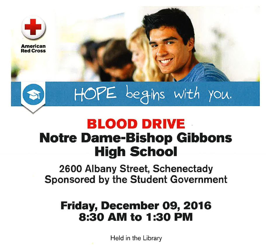 Blood Drive in ND-BG Library, 12/9/2016