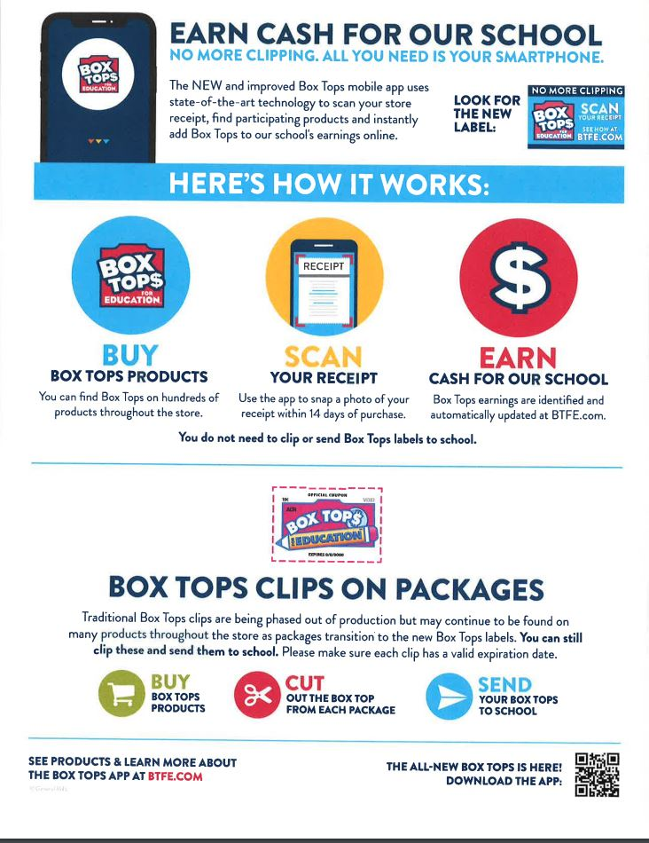 Support NDBG with your Box Tops for Education