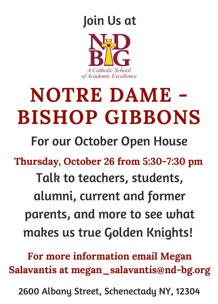 October Open House - 10/26/17, 5:30-7:30pm